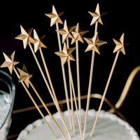 Мастер-класс. Золотые объемные топперы в форме звезды.