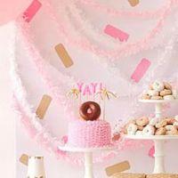 Нежный день рождения с пончиками для девочки