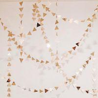 Золотая гирлянда из мини-треугольников