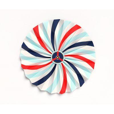"""Веерный круг """"Самолеты. Синие, красные, голубые полосы"""""""