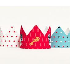 """Короны """"Алиса в стране чудес"""" белая, голубая, красная"""