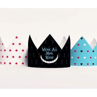 """Короны """"Алиса в стране чудес"""" белая, черная, голубая"""