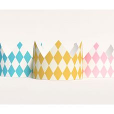 """Короны """"Алиса в стране чудес"""" ромбы розовый, голубой, желтый"""