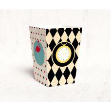 """Коробочка для попкорна """"Алиса в стране Чудес"""" часы"""