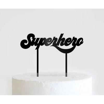 """Топпер для торта """"Superhero"""""""