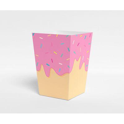 """Коробочка для попкорна """"Пончики"""" розовая"""