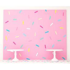 """Плакат 120х100 см """"Пончики"""" розовый с конфетти"""