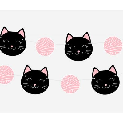 Гирлянда кошки с клубком