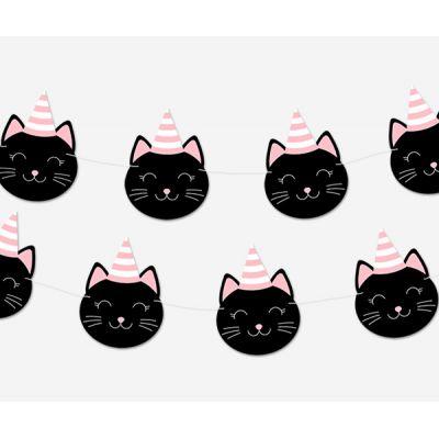 Гирлянда кошки в колпачках