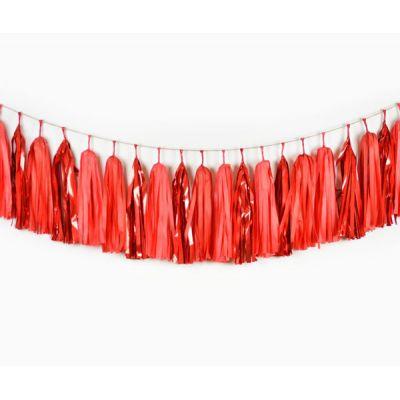 Тассел гирлянда. Красные цвета