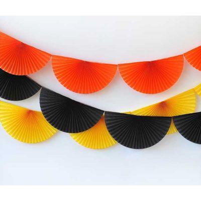 Сет веерных гирлянд. Оранжевая, черная, желтая 3 шт