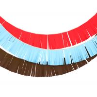 """Гирлянды бахрома """"Ковбои"""" коричневая, красная, голубая"""