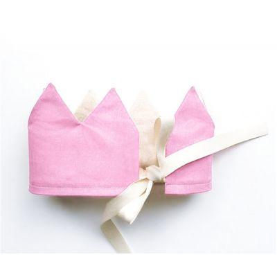 Корона розовая. Хлопок