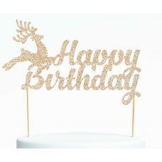 """Топпер для торта """"Happy Birthday-1.Оленёнок"""""""
