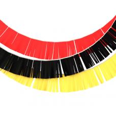 Гирлянды бахрома красная, черная, желтая
