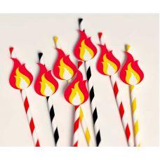 """Набор бумажных трубочек """"Пламя"""""""
