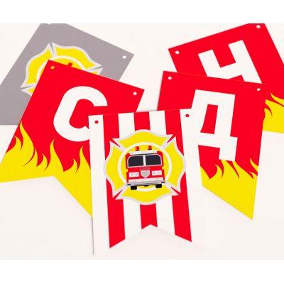 Растяжка флажки для пожарного дня рождения