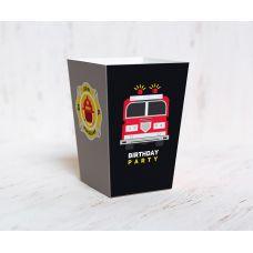 """Коробочка для попкорна """"Пожарный"""""""