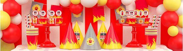 День рождения в пожарном стиле