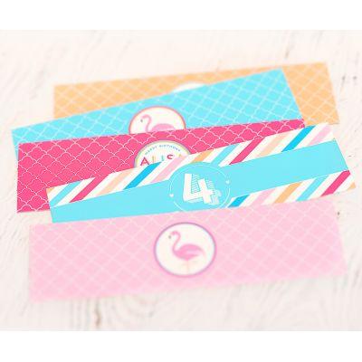 """Этикетки на бутылочки для детского сока """"Фламинго"""""""