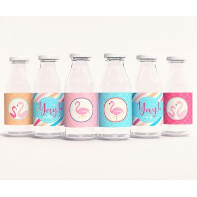 "Этикетки для напитков ""Фламинго"""