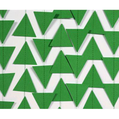Гирлянда фигурная из мини-треугольников зеленого цвета