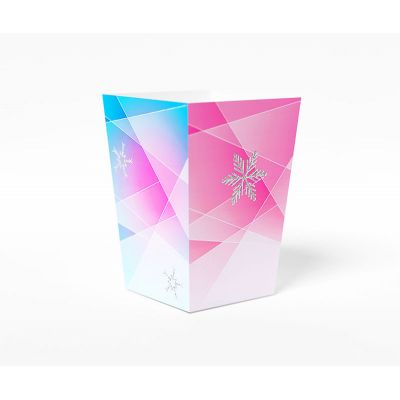 "Коробочка для попкорна ""Зимняя сказка"" градиент розовая"