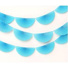 Сет веерных гирлянд голубого цвета 3 шт