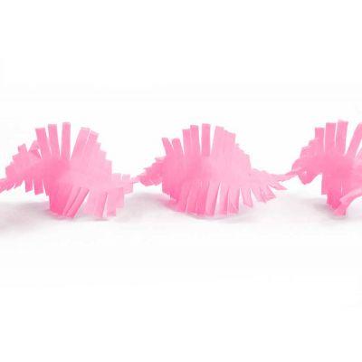 Гирлянда бахрома нежно-розовая