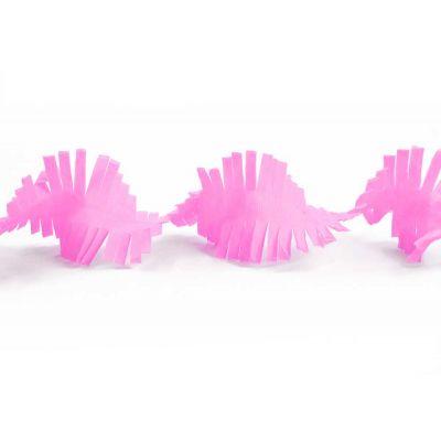 Гирлянда бахрома розовая