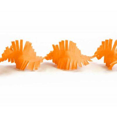 Гирлянда бахрома оранжевая