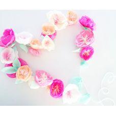 Гирлянда из воздушных бумажных цветов