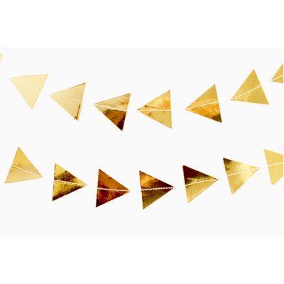 Фольгированная треугольная мини-гирлянда, золотая
