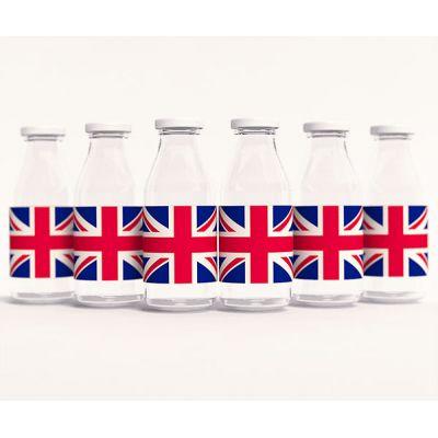 """Тематические этикетки 'Великобритания"""" с рисунком флага"""