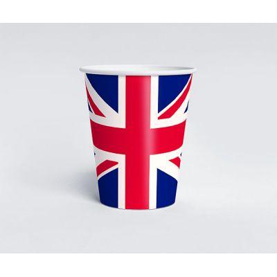 """Одноразовый стаканчик в английском стиле """"Великобритания"""""""