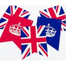 """Гирлянда прямоугольная """"Великобритания"""" корона"""