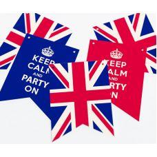 """Гирлянда прямоугольная """"Великобритания""""  KEEP CALM"""