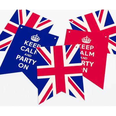"""Растяжка флажки прямоугольные """"Великобритания"""" KEEP CALM"""