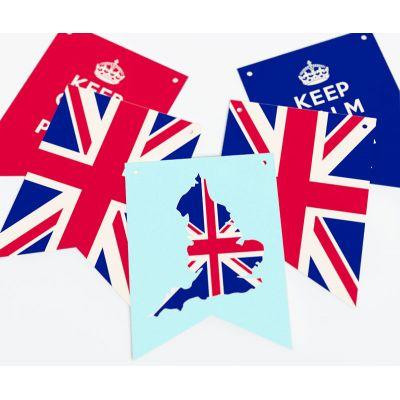 """Растяжка флажки прямоугольные """"Великобритания"""" Соединенное Королевство"""