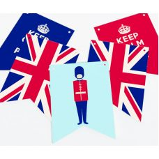 """Гирлянда прямоугольная """"Великобритания"""" гвардеец"""
