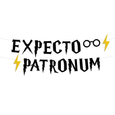 "Гирлянда буквы ""Гарри Поттер"" expecto patronum"