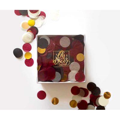 """Конфетти """"Гарри Поттер"""" бордовый, черный, золотой, айвори цвета. Коробка"""