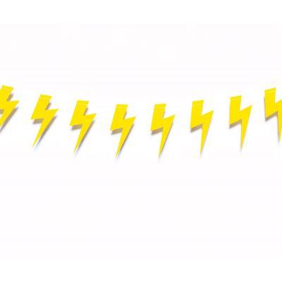 """Гирлянда """"Молния. Желтая"""""""