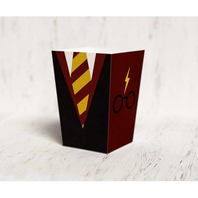 "Коробочка для попкорна ""Гарри Поттер"" галстук"
