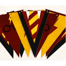 "Гирлянда ""Гарри Поттер"", галстук и очки"