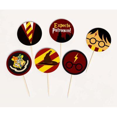 "Набор топперов ""Гарри Поттер"" мини, expecto patronum"