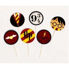 """Топперы круглые """"Гарри Поттер"""" HP, мини"""