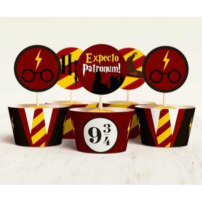 """Набор для капкейков """"Гарри Поттер"""" expecto patronum, платформа 9 3/4"""