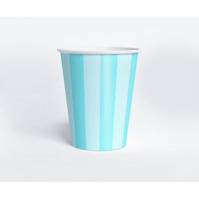 """Стаканчик """"Ванильное мороженое"""" голубая полоска"""