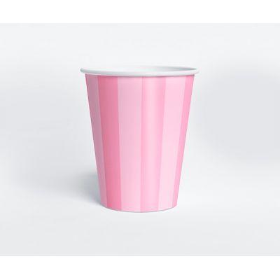 """Стаканчик """"Ванильное мороженое"""" розовая полоска"""